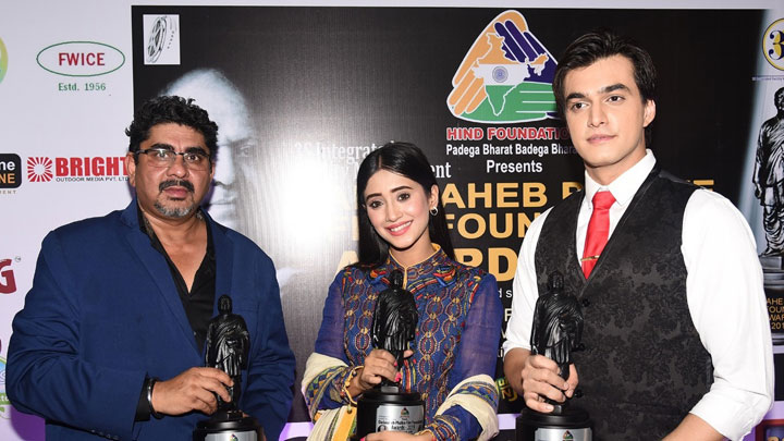 Shivangi Joshi, Moshin Khan, Soundarya Sharma & others at Dadasaheb Phalke Awards 2019