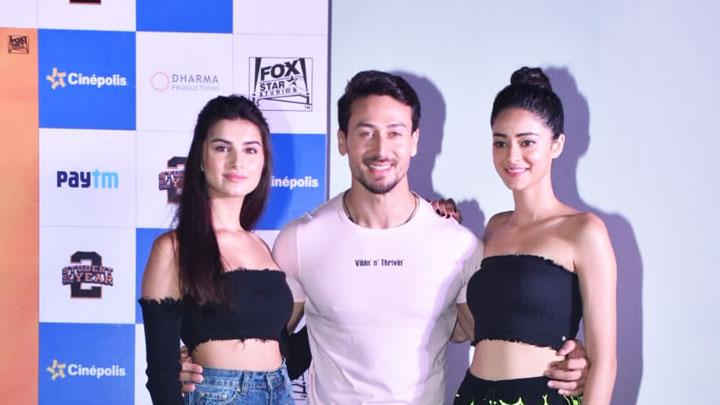 Tiger Shroff, Tara Sutaria and Ananya Pandey SPOTTED at JW Marriott, Juhu