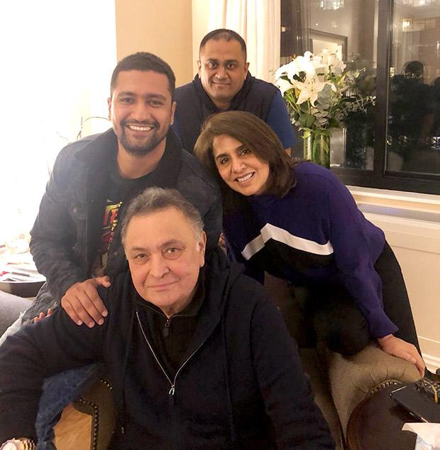 Vicky Kaushal meets Sanju co-star Ranbir Kapoor's parents Rishi Kapoor and Neetu Kapoor in New York