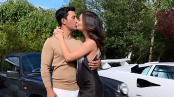 WATCH: Amy Jackson and fiance George Panayiotou share romantic kiss and dance at their engagement party
