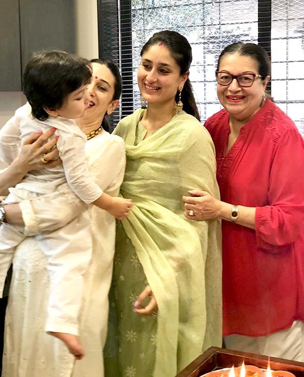 Karisma Kapoor shares this adorable photo featuring 'strong moms' Kareena Kapoor Khan, Babita as well as her nephew Taimur Ali Khan