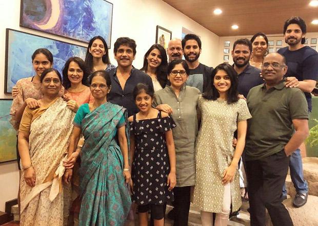Nagarjuna, Naga Chaitanya, Samantha Akkineni get together and create this perfect FAMJAM moment with the entire family!
