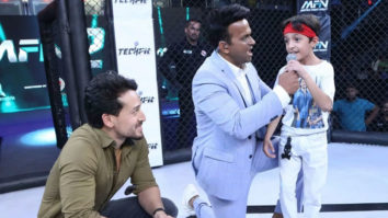 ADORABLE Tiger Shroff's faceoff with a young fan at MFN2 night in Delhi Jackie Shroff