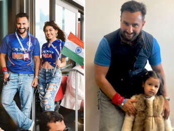 IND vs PAK: Saif Ali Khan cheers for Team India with Jawaani Jaaneman co-star Alaia Furniturewala, meets MS Dhoni's daughter Ziva Dhoni