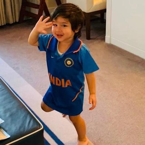 INDIA vs PAKISTAN: Taimur Ali Khan makes cute appearance in Indian jersey, mom Kareena Kapoor Khan & aunt Karisma Kapoor cheer for the team
