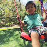 PHOTO ALERT: Kareena Kapoor Khan's son Taimur Ali Khan is an absolute cutie pie as he plays on a swing