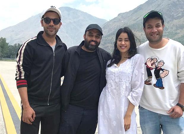 PHOTO Janhvi Kapoor and Rajkummar Rao are happy souls on the sets of RoohiAfza