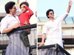 PHOTOS & VIDEOS: Shah Rukh Khan greets fans with AbRam Khan on Eid, American host David Letterman witnesses his stardom