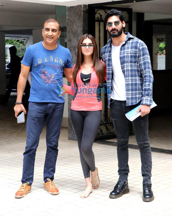 Photos: Ahan Shetty, Tara Sutaria and Milan Luthria spotted in Bandra
