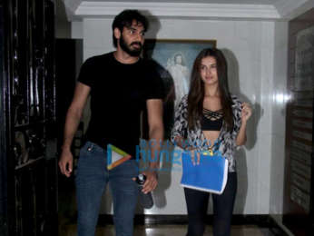 Photos: Ahan Shetty and Tara Sutaria spotted at Milan Luthria's office in Bandra