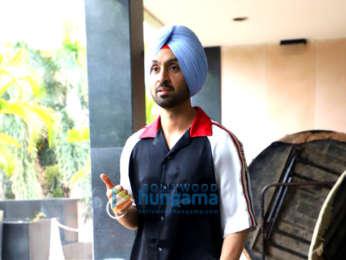 Photos: Diljit Dosanjh and Neeru Bajwa snapped promoting their Punjabi film 'Shadaa'