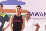Shilpa Shetty doing Yoga with CRPF Jawans