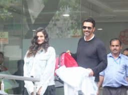 Arjun Rampal and Gabriella Demetriades discharge from hospital with new born son