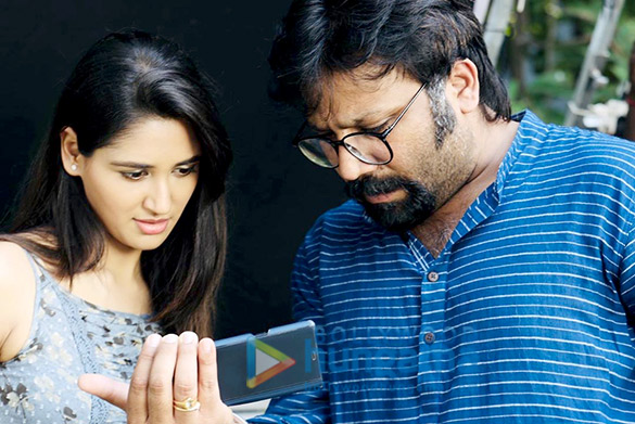 on the sets of the movie Kabir Singh