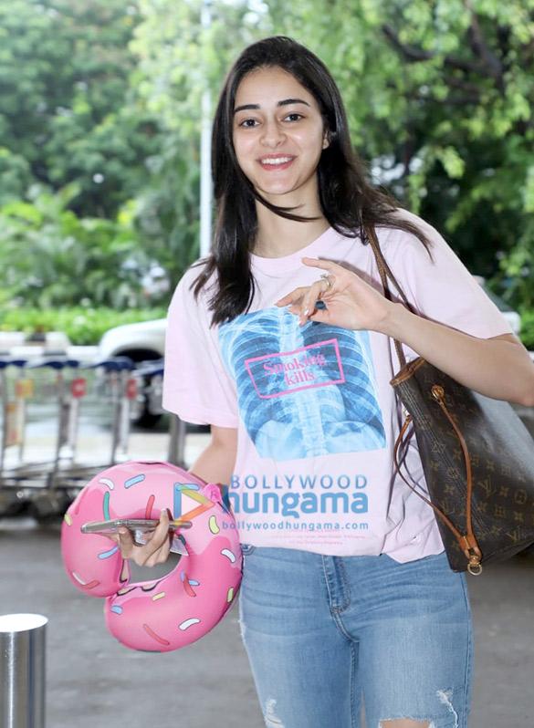 Photos: Ananya Panday and Shatrughan Sinha snapped at the airport