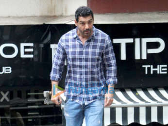Photos: John Abraham spotted at Tip & Toe in Juhu