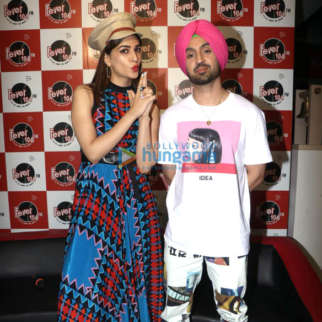 Photos: Kriti Sanon and Diljit Dosanjh grace the song launch of 'Sachiya Mohabbatan' from their film 'Arjun Patiala'