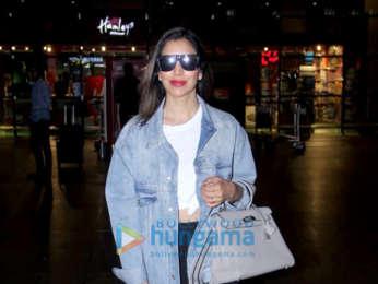 Photos Ranbir Kapoor, Alia Bhatt, Nora Fatehi and Sophie Choudry snapped at the airport last night