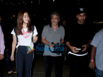 Photos: Ranbir Kapoor, Alia Bhatt, Nora Fatehi and Sophie Choudry snapped at the airport last night