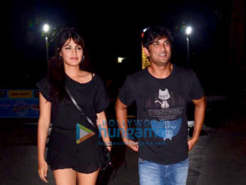 Photos: Rhea Chakraborty and Sushant Singh Rajput snapped at Dirty Buns at Kamala Mills