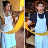 Priyanka Chopra and Nick Jonas have a romantic vacation in Italy; enjoy cooking pasta on date night
