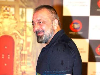 Photos: Sanjay Dutt and Manyata Dutt snapped attending the teaser launch of Prasthanam