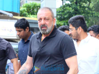 Photos: Sanjay Dutt and Manyata Dutt snapped attending the teaser launch of Prasthanam