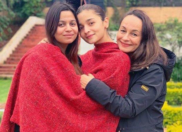 Snuggle Bugs Alia Bhatt posing with mother Soni Razdan and sister Shaheen Bhatt is your daily dose of cuteness!