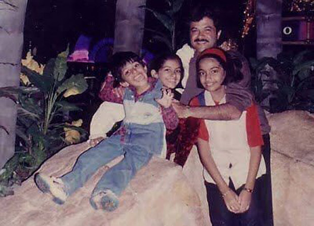 THROWBACK TUESDAY: Sonam Kapoor reminisces about her childhood in this cute photo with dad Anil Kapoor and siblings Rhea Kapoor and Harshvardhan Kapoor