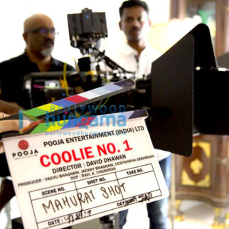 On The Sets From The Movie Coolie No. 1
