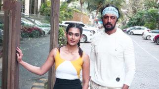 Kichcha Sudeep and Aakanksha Singh spotted promoting their film Pehlwaan