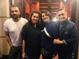 PHOTO ALERT: Suniel Shetty and Mana Shetty visit Rishi Kapoor and Neetu Kapoor in New York