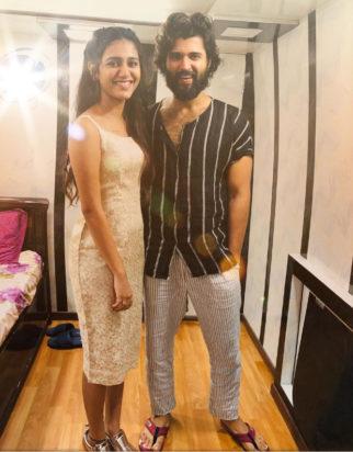 PHOTO ALERT: Priya Prakash Varrier meets Arjun Reddy star Vijay Deverakonda
