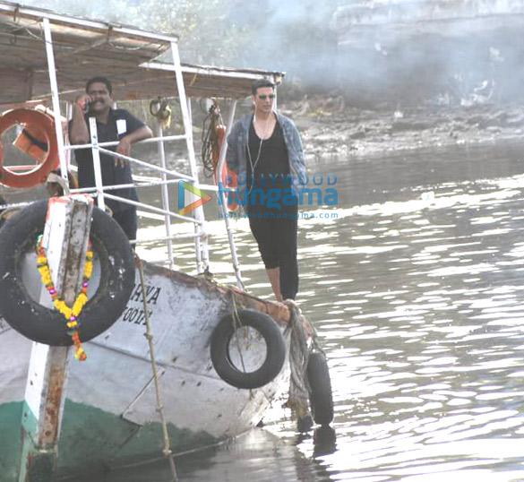 Photos: Akshay Kumar and Kiara Advani snapped at the Madh Jetty