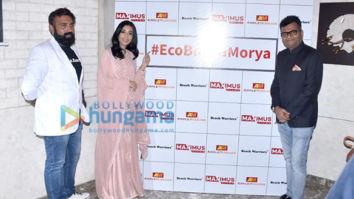 Photos: Amrita Rao snapped at the launch of #EcoBappaMorya initiative