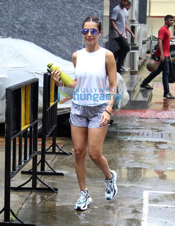 Photos: Malaika Arora and Amrita Arora snapped at I Think Fitness in Bandra