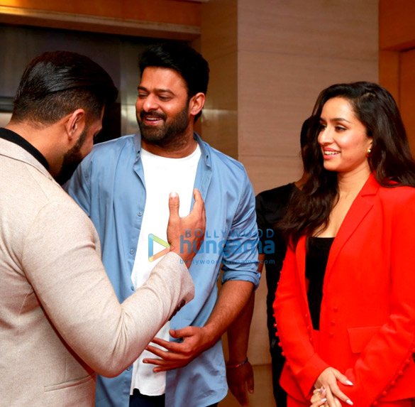 Photos: Prabhas and Shraddha Kapoor snapped at the press meet of Saaho
