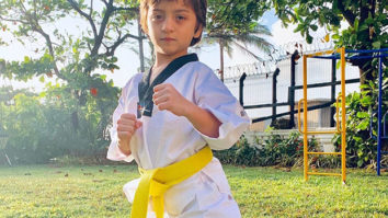 Shah Rukh Khan shares pictures of his kids keeping up the tradition of Tae 'Khan' Doh