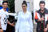 Shraddha Kapoor, Sushan Singh Rajput & Varun Sharma spotted promoting their film Chhichhore