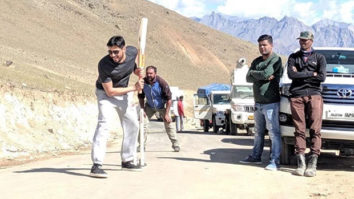 Sidharth Malhotra enjoys a fun game of cricket on the sets of Shershaah