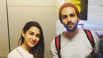 This video Kartik Aaryan hugging Sara Ali Khan while he drops her at Lucknow airport is going viral