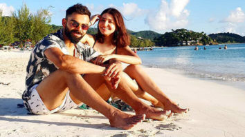 Virat Kohli and Anushka Sharma raise the cuteness quotient as they pose by the beach!
