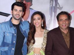 Dharmendra, Karan Deol and Sahher Bambba grace the trailer launch of the film Pal Pal Dil Ke Paas Part 2