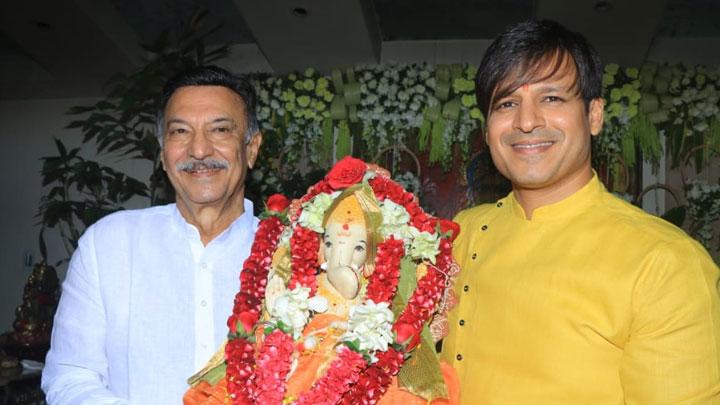 FULL Vivek Oberoi and Suresh Oberoi's Ganpati Visarjan and Ganpati Pooja