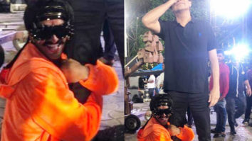 LOL! Ranveer Singh clings to Shiamak Davar's leg and it is the cutest thing you will see today!