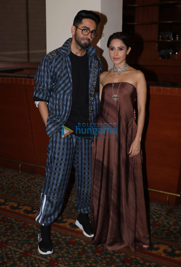 Photos Ayushmann Khurrana and Nushrat Bharucha snapped during 'Dream Girl' promotions (5)