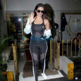 Photos: Nidhhi Agerwal spotted at a salon in Bandra