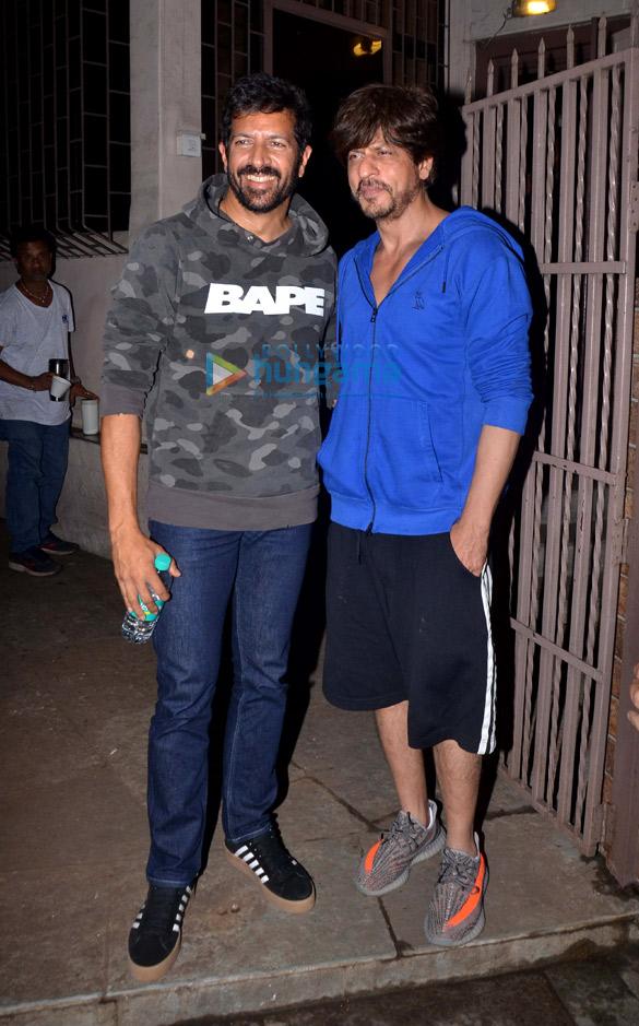 Photos: Shah Rukh Khan and Kabir Khan snapped at a dubbing studio in Bandra