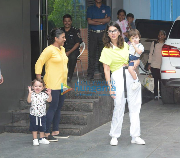 Photos: Sunny Leone snapped with her kids at play school ...