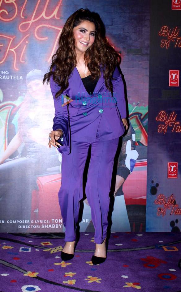 Photos Urvashi Rautela snapped at the song launch of new album 'Bijli Ki Taar'1 (2)